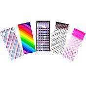 5pcs アートステッカーネイル テープストリッピングをくじく メイクアップ化粧品 ネイルアートデザイン