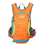15 L バックパック 狩猟 登山 レジャースポーツ サイクリング/バイク 学校用 キャンピング&ハイキング 旅行 防水 防水ファスナー 高通気性 水膀胱を含む ヘッドセット 防湿 横滑り防止 耐衝撃性の ナイロン メッシュ