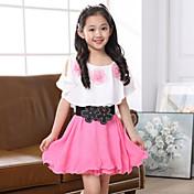 Dívka je Jednobarevné Léto Šaty Polyester Růžová / Červená