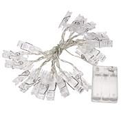 1個2メートルミニ20は、クリスマスライト新年パーティー結婚式の家の装飾の妖精ライト黄色/白/マルチ3xaaバッテリーカードフォトクリップ文字列のライトを導きました