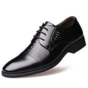 Hombre Zapatos Cuero Primavera Verano Otoño Invierno Botas de Moda Confort Oxfords Remache Para Casual Fiesta y Noche Negro Amarillo