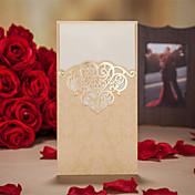 Doblado Triple Invitaciones De Boda 50-Tarjetas de invitación Estilo artístico Estilo retro Estilo floral Estilo Floral Papel de tarjeta