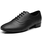 Moguće personalizirati-Muške-Plesne cipele-Jazz-Umjetna koža-Niska potpetica-Crna
