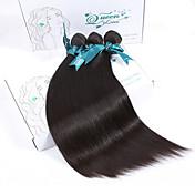 人間の髪編む ペルービアンヘア ストレート 12ヶ月 3個 ヘア織り