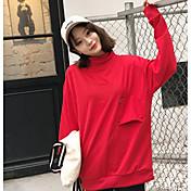 記号シックの2017韓国語バージョンと長いセクション緩いにおける女子学生の半分の高襟ヘッジセーターの流入