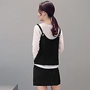 新しい春2017女性に署名' Sファッション緩い薄いソリッドカラースリーピーススーツ