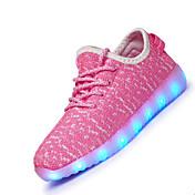 女の子用-アスレチック-繊維-フラットヒール-靴を点灯-アスレチック・シューズ-ブラック ブルー ピンク ホワイト