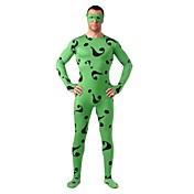 Disfraces de Cosplay Súper Héroes Soldado/Guerrero Cosplay de películas  Negro Verde Estampado Leotardo/Pijama Mono Zentai Traje de Gato