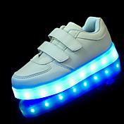 Sneakers-Kunstlæder-Første gåsko Light Up Sko-Drenge-Sort Hvid-Udendørs Fritid Sport-Lav hæl