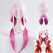yuzuriha inori cosplay perika kriv kruna otporne na toplinu sintetička duga ravna kosa custome perike visoke kvalitete val stranka
