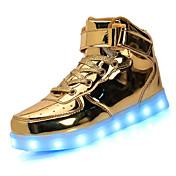 Unisex Zapatillas de deporte Paseo Confort Suelas con luz Zapatos con luz Semicuero Primavera Verano Otoño Deportivo Casual Con Cordón LED
