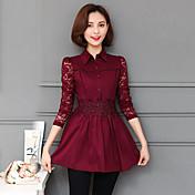 春に2017人の女性に署名' sのレースのシャツの女性の長袖シャツ韓国人女性の小さなシャツ