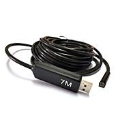 7m cámara USB endoscopio endoscopio serpiente lente de 7 mm 6 llevó la inspección impermeable para PC