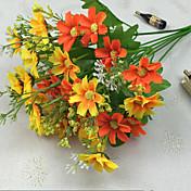 De alta calidad longitud 34.5cm y de color brillante 28 cabezas por racimo pequeña margarita flor artificial