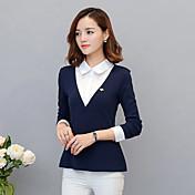 falsificación dos blusas de la camisa 2017 primavera y el otoño versión coreana del ventilador delgado coreano de tejer camisa de manga