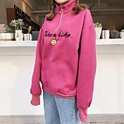 2017 modelos de primavera de retención súper uso bordado fino para agarrar letra pequeña sonriente suéter flojo entrará