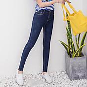 Sign in spring 2017 pantalones elásticos pantalones vaqueros femeninos pantyhose apretados gordo mm pies grandes pantalones lápiz lápiz