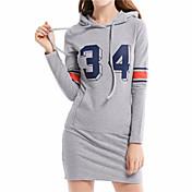 パッケージヒップスカート長袖フード付きワンピース印刷記号#5357 Aliexpressの熱い34アマゾンの手紙