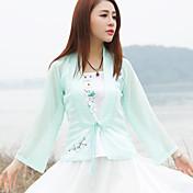 Firmar 2017 verano nuevo estilo chino original pintado a mano chino mejorado las mujeres&# 39; s ropa de gasa chaquetas chaqueta