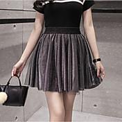 春と夏ハイウエストスカートスカートスカート大きなヤード女性学生は薄いプリーツスカートだったツテ抗空キュロット