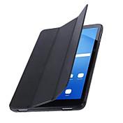 のために スタンド付き オートオン/オフ フリップ 折りたたみ式 ケース フルボディー ケース ソリッドカラー ハード PUレザー のために Samsung Tab A 10.1 (2016)