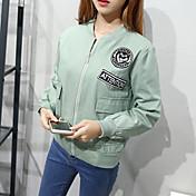 符号2017春新しい韓国の女性スリムカレッジ風野球ユニフォームジャケットカーディガンジャケットコート女性