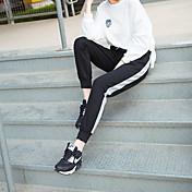 サインスポットの女性モデル2016新しい冬のスポーツパンツビームの足のモザイクは薄いズボンのズボンの潮があった