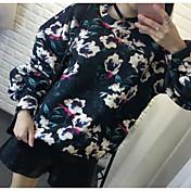 ヨーロッパの駅に2017新しい春の植物の花のランタンスペース綿の長袖のセーターの女性を見つけるに署名