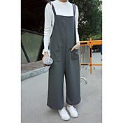firmar en otoño e invierno 2016 Corea Compras pantalones de vestir del viento del instituto de la pierna mujeres salvajes de ancho de