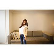 primavera y otoño nueva mujer salvaje de manga larga camisa blanca versión coreana de la gran yardas camisa suelta de algodón de cuello