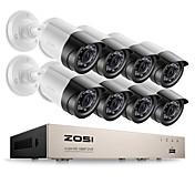 Zosi® 8ch kits de vigilancia de alerta por correo electrónico 1080p hd-tvi dvr 8pcs sistema de videocámara de video de cámara de visión nocturna