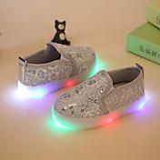 Nokasíny-Syntetika-Flower Girl Boty Light Up boty-Dívčí-Zlatá Stříbrná Růžová-Šaty Běžné Party-Plochá podrážka