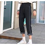 サイン韓国のファッション側は、薄いウエストストレートジーンズ女性のパンストストッキングだった動きを設計する必要があります