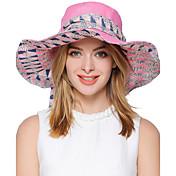 Mujer Primavera Verano Otoño Bonito Fiesta Trabajo Casual Poliéster Sombrero para el sol,Rayas