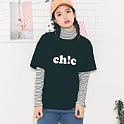 サイン女性' s 2017 spring新しいコットンファッション韓国半袖Tシャツ半袖シャツレターシック