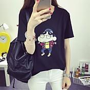 Signo 2017 de verano de manga corta camiseta femenina coreano suelta crayones pequeño patrón estrella de dibujos animados de manga corta