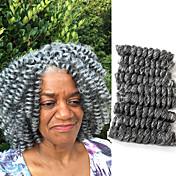 háčkované skákací Curl Twist prýmky Prodloužení vlasů Kanekalon vlasy copánky