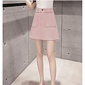 posibilidades reales de desgaste externa de la alta cintura bolsillo de la falda de la cremallera femenina verano de la falda de punto de
