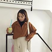 firmar la nueva zona de una sola fila de varios puertos pequeña camisa fresca salvaje elegante de muy buen gusto de manga larga