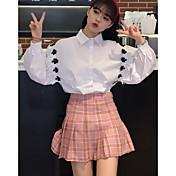 Signo de la primavera de la universidad viento silvestre algodón applique camisa estudiantes mujeres
