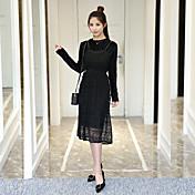 Signo de rizado 2017 primavera nuevo vestido de terciopelo de oro Corea del cordón de moda correas bottoming falda de dos piezas de las