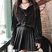 firmar 2016 versión coreana de la cintura otoño y el invierno comodín falda de cuero de la PU se faldas delgadas vestido negro falda