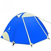 2人 ダブル 1つのルーム キャンプテントハイキング キャンピング 旅行-グリーン ブルー