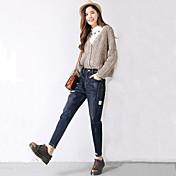 デニムパンツの足ニンジンパンツは秋と冬は細い腰の穴ゆるいジーンズ女性のハーレムパンツズボン336761でした