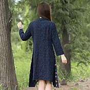 nuevas mujeres&# 39; s nacionales viento irregular del dobladillo de la costura de manga larga vestido
