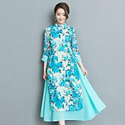 El estilo chino retro del nuevo viento nacional 2017 del verano mejoró el vestido del cheongsam diario