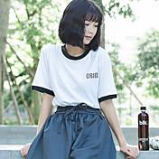 Signo punto de primavera y el verano golpeó letras de impresión en color de manga corta camiseta mujeres 3