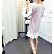 Signo nuevo color hechizo de moda color suelta cuerno vestido de manga flouncing