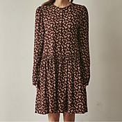 17 primavera nueva versión coreana de la falda floral retro camisa de vestir floja bottoming hembra