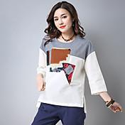 Signo 2017 primavera nuevo parche literario camiseta de costura suelta camiseta